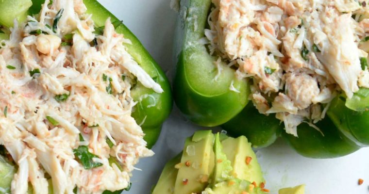 Crab Salad Stuffed Peppers