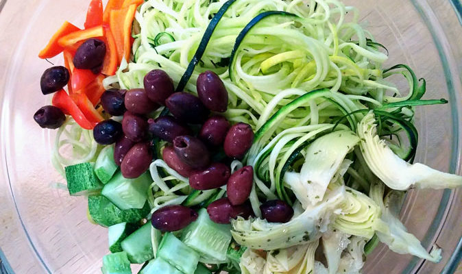 Cold Zoodle Salad
